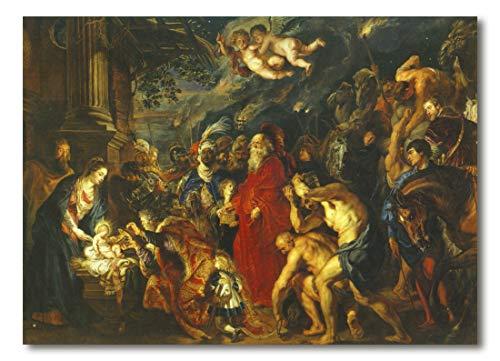 Cuadro Decoratt: Adoracion de los Reyes - Rubens 66x48cm. Cuadro de impresión directa.