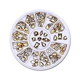Pedrería de uñas 12 Cajas/Set de la Joya de Cristal AB Diamante del Diamante Artificial 3D Brillo de uñas decoración del Arte de la Belleza (Color : Pink)