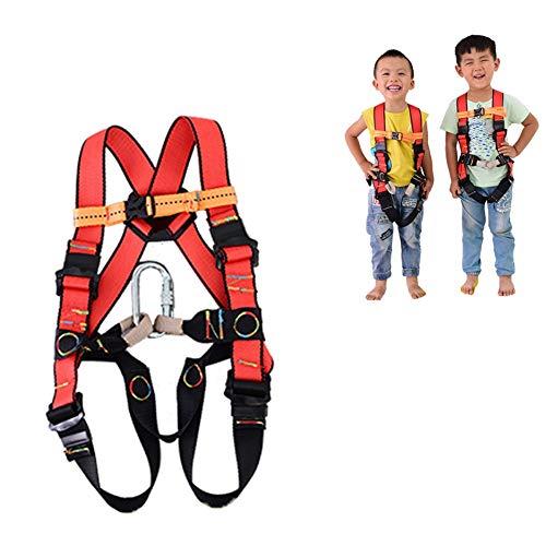 CHXIAN Arnés de Escalada para Niños, Arnés Anticaídas Alpinismo, Apto para Menores de 12 Años Apto para Escalar Entrenamiento de Desarrollo al Aire Libre Cruce de la Selva (Size : S/3-5years Old)