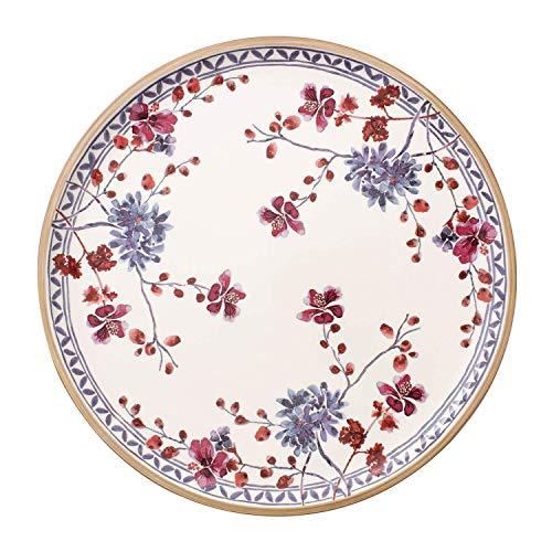Villeroy & Boch Artesano Provençal Lavande Assiette à pizza, 32 cm, Porcelaine Premium, Blanc/Multicolore