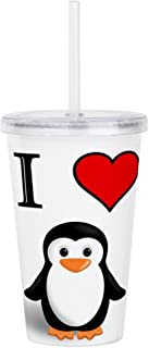 CafePress PENGUIN Insulated Straw Cup, 20oz Acrylic Double-Wall Tumbler