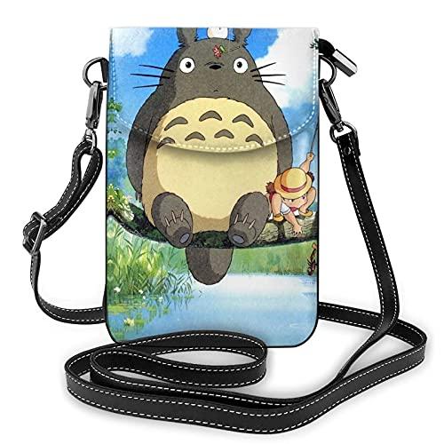 Anime My Neighbor - Bolsa para teléfono celular pequeña para mujer con correa para el hombro