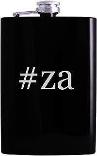 #za - 8oz Hashtag Hip Alcohol Drinking Flask, Black