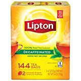 Lipton Decaffeinated Black Tea Bags, 2 Pack 144 Count