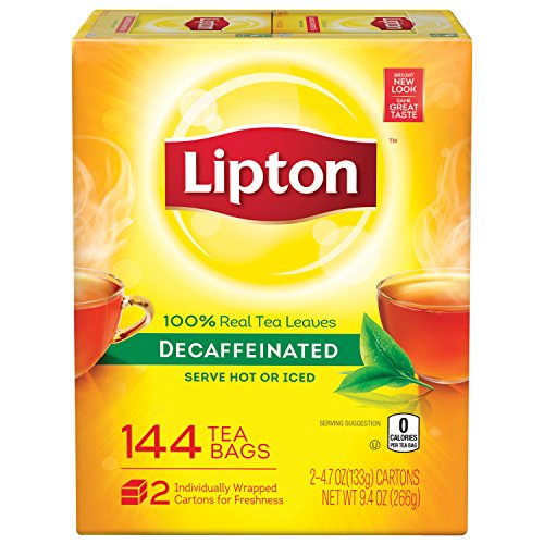 Lipton Decaffeinated Black Tea Bags, 2 Pack 144Count (COMINHKG008922)