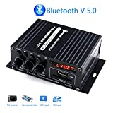 Mini Amplifier Bluetooth 5.0, Mochatopia Clearly and Reality Sound Amp, Class AB 2.0