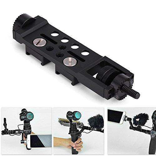 Universal Frame Mount Adapter Halterung, Verstellbarer verlängerter Arm gerade Verlängerung Montage Zubehör für DJI OSMO Pro Mobile Handheld Gimbal Kamera schwarz