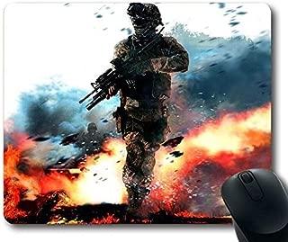 (Advanced Lock Edge) Call of Duty Modern Warfare Military Soldier Fire Gun Action Non-Slip Neoprene Rubber Standard