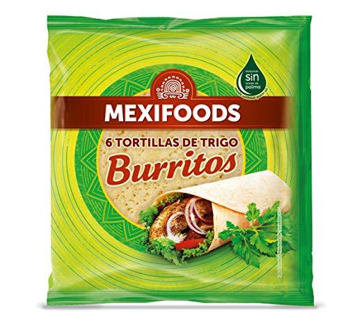 Mexifoods - Tortillas de trigo envasado, 370 gr, 1 paquete con 6 unidades