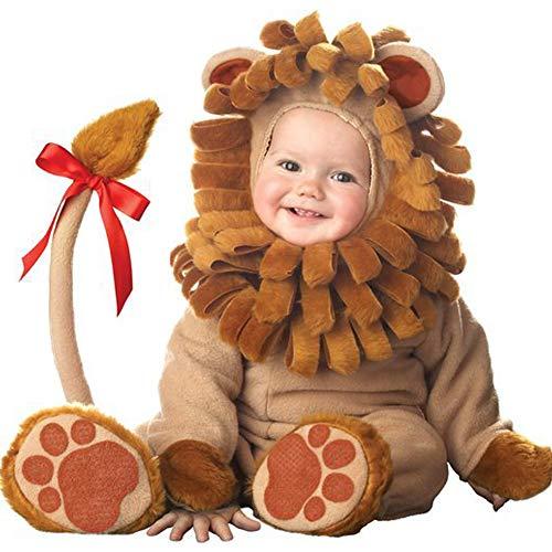PoeHXtyy Unisex bebé lindo mono de cremallera pijamas niño disfraz de animal
