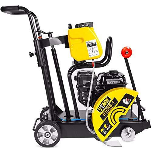 Stark 6.5HP Walk-Behind Floor Concrete Cut Off Saw 14' Equipment Engine EPA 4-Stroke Gas with Wheel