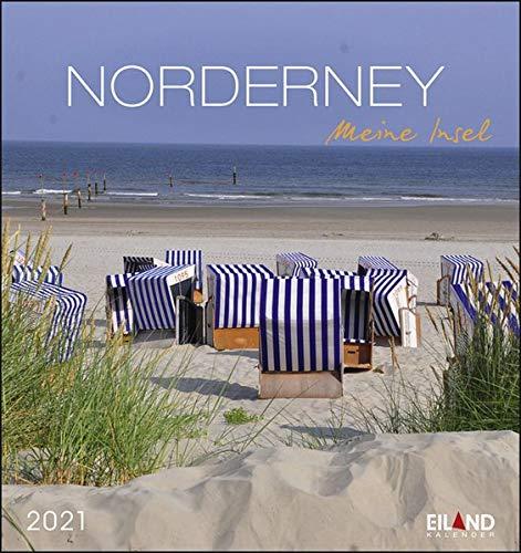 Norderney Postkartenkalender 2021 - Kalender mit perforierten Postkarten - zum Aufstellen und Aufhängen - mit Monatskalendarium - Format 16 x 17 cm: Meine Insel
