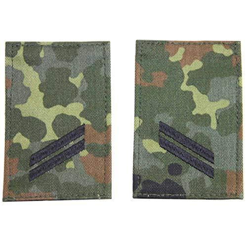 Unbekannt Rangabzeichen mit Klett flecktarn mit schwarzem Stick Obergefreiter