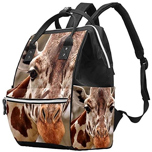 WJJSXKA Zaini Borsa per pannolini Laptop Notebook Zaino da viaggio Escursionismo Daypack per donna Uomo - Giraffa Head Animal Zoo