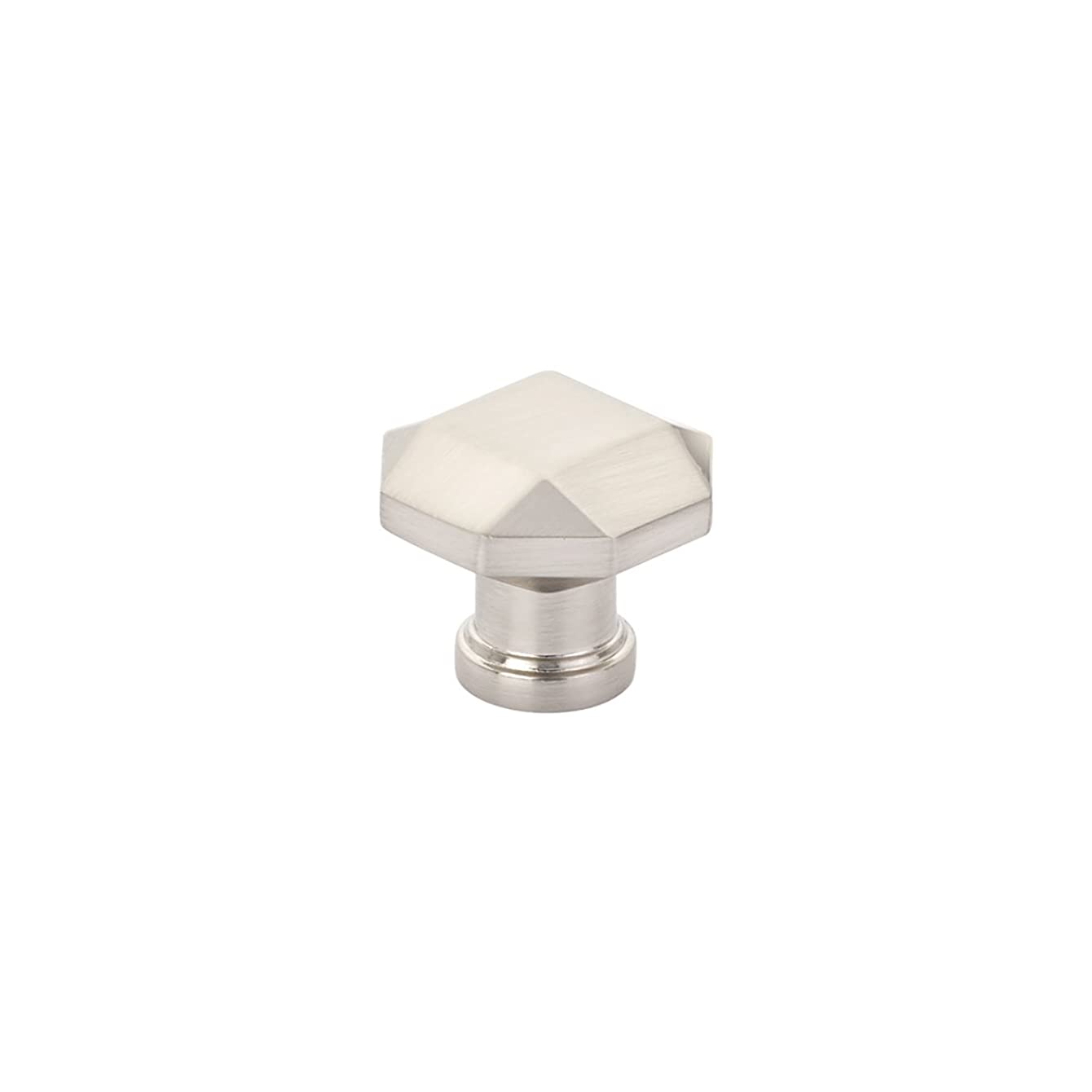 Schaub Menlo Park Collection 1-1/4 in. (32mm) Faceted Knob, Brushed Nickel - 531-BN