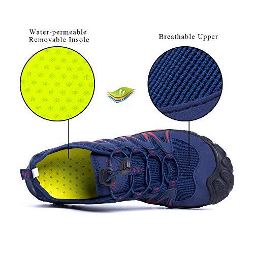 Zapatos de Agua Hombre Mujer Escarpines Secado Rápido Zapatillas Trail Running Transpirables Natación Piscina Playa Unisexo Azul G Reino Unido 44