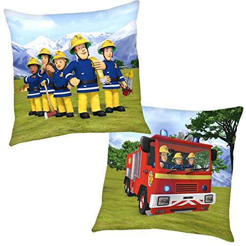 Feuerwehrmann Sam Bergrettung 40 x 40 cm | Kinder Kissen | Dekokissen