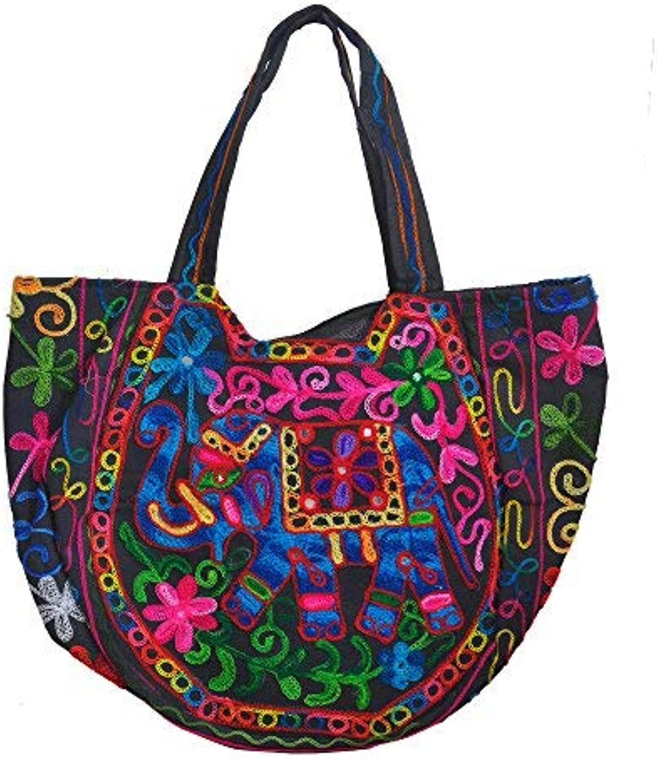 Kashmiri Embroidered handcrafted shoulder bag by Indian artisans