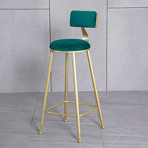 Barstools-BYTGK barkruk zachte zithoogte 65 cm hoge rugleuning kruk met metalen poten ontbijt huisstoelen keuken Salon J1122