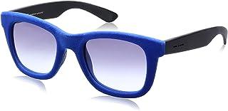 نظارة شمس بعدسات شبه مربعة رمادي وشنبر قطيفة للنساء من ايطاليا انديبندنت - ازرق