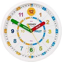 diametro 30,5 cm dimmerabile orologio da parete per bambini per imparare a leggere l/'ora Cander Berlin MNU 5130 con movimento silenzioso e illuminazione del quadrante a 5 fasi