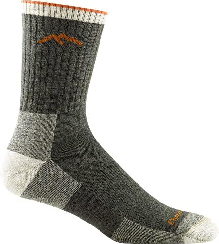 Darn Tough Hiker Micro Crew Cushion 1466-OLIVE Wool Mens Socks - Olive - 43-45