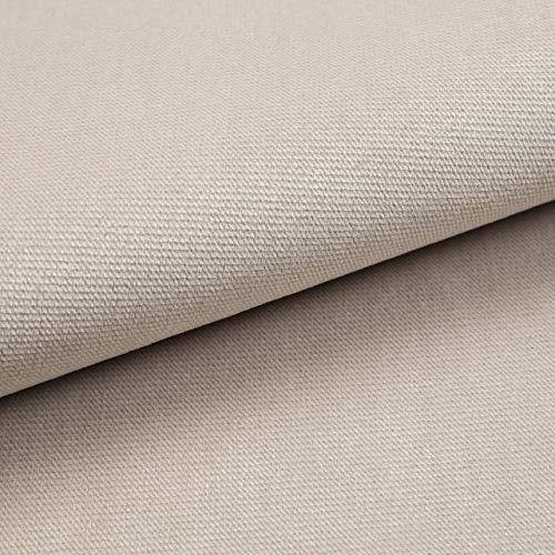 Velvet Krono, weich und elegant, Samtstoff, Möbelstoff, Polsterstoff Möbel Sitzbezug Stoff, Meterware - Beige P2