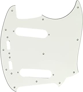Musiclily Pro 12-Hole Guitar Pickguard for JPN Fender Japan Mustang, 3Ply Parchment