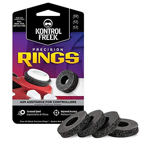 KontrolFreek Precision Rings | Control de movimiento asistido para PlayStation 4 (PS4), PlayStation 5 (PS5), Xbox One, Xbox Series X, Switch Pro & Scuf | Resistencia dura | Negro.