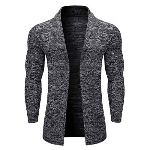 Longra Cardigan, sport, casual, sweater voor heren, eenkleurig, naaiblouse, gebreide jas, middelgrote en lange snit, casual pullover