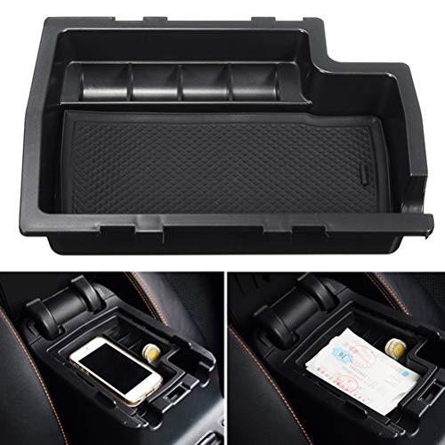 QOHFLD Armlehnen dachträger Mittelkonsole Armlehne Aufbewahrungsbox Container Handschuh Organizer Münzablage Palette für Subaru XV Crosstrek 2012 2013 2014 2015 2016