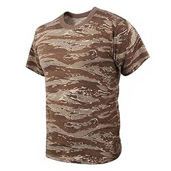 Rothco T-Shirt Desert Tiger Stripe Camo Large