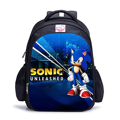 UNILIFE Mochilas Escolares 3D para Infantiles Mochilas Hedgehog Sonic S M L 3 Tamaños De Bolsas Escolares para Niños De 5 A 12 Años