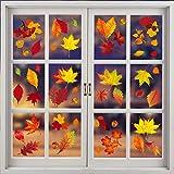 Taianle Otoño hojas hojas adhesivas – 8 hojas grandes de regalo de agradecimiento para otoño, decoración para fiestas, decoración para el hogar