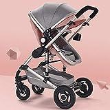 Cochecito de bebé reversible todo terreno - Cochecitos de paseo City Select para cochecito de niño pequeño Asiento de carro para bebé individual Silla de paseo reclinable convertible ( Color : Pink )