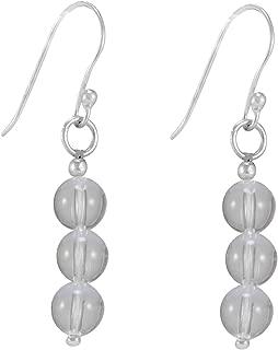 Fish-hook Setting 3 To 4mm Beads Earring Jaipur Rajasthan India Handmade Jewelry Manufacturer 3 Stone Set Citrine /& Jasper 925 Silver Plated
