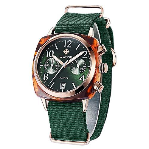 WWOOR Women's Watch Nylon Sport Multifunction Watch Fashion Analog Quartz Watches with Date...