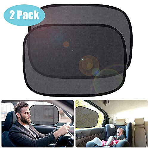 Uniky Car Window Shade Sunshade for Car Windows - Sun, Glare and UV Rays Protection for Your Child - Baby Side Window Car Sun Shades 2Pack