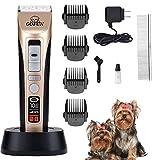 Hundeschermaschine - Tierhaarschneidemaschine Kit 5-Gang Schermaschine Hunde Trimmer für Hund Katzen Drahtlose Tierhaartrimmer Tierschermaschine Haarschneidemaschine Hund Haustierpflegenscherer Katze
