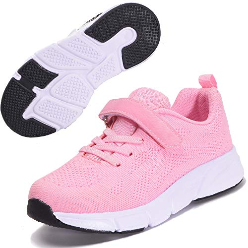 Zapatillas Deportivas para Niños Ligeras Zapatillas de Correr Niñas Calzado de Deporte Zapatillas de Running Sneakers Rosado 32