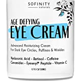 Eye Cream for Dark Circles and Puffiness, Under Eye Bags, Wrinkles - Anti Aging Moisturizer with Retinol, Caffeine, Vitamin C - Under Eye Cream, Dark Circles under Eye Treatment for Women Men Sofinity
