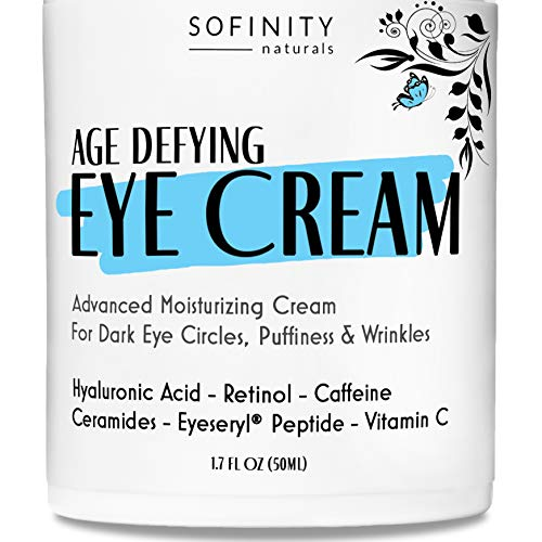 Eye Cream Anti Aging Bags & Dark Circle - Under Eye Cream - Dark Circles under Eye Treatment for Women / Men - Eye Cream for Dark Circles and Puffiness - With Retinol, Caffeine, Vitamin C, by Sofinity