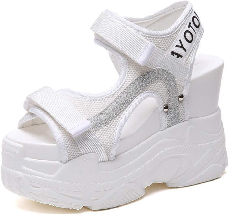 MEIZOKEN Women's Hook Loop Wedge Sandals Summer Sports Open Toe Sneakers Ladies Fashion Platform Sandals