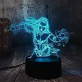 Figuras De Acción 3D Led Luz De Noche Linterna Lámpara De Escritorio Juguetes Para Niños Regalo...
