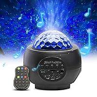 【Wunderschöner Sternenprojektor】 32 Fantastische Beleuchtungsmodi, Sterne arbeiten mit der Wellenfarbe, um 32 Projektionsmodi zu erzielen. 【HiFi-Stereolautsprecher】 Der Nachtlichtprojektor kann die Musik abspielen, indem Sie Ihr Bluetooth verbinden, ...
