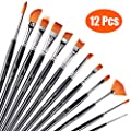 Paint Brushes Round Pointed Tip Nylon Hair Artist Acrylic Brush for All Purpose Oil Watercolor Painting Artist Professional Kits