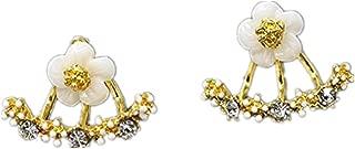 Naomi Women Fashion Accessories Crystal Stud Earrings Boucle d'oreille Femme Flower Earrings Gold Bijoux Jewelry Rose gold