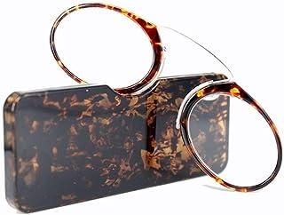 MTYJ Lichtgewicht leesbril Clip Neus Ronde optische glazen Ultra Oude man Daily lezen Essentiele -7.25 (Frame Color : 02, ...