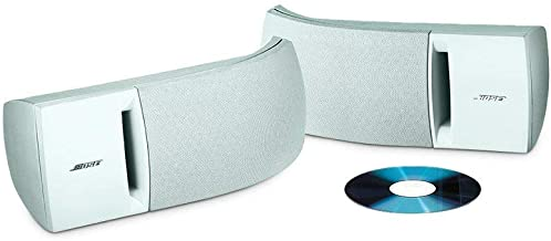 Bose 161 Speaker System (Pair, White) - Ideal for Stereo or Home Theater use (Renewed)