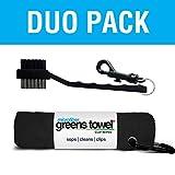 Greens Towel Duo Pack (Jet Black)